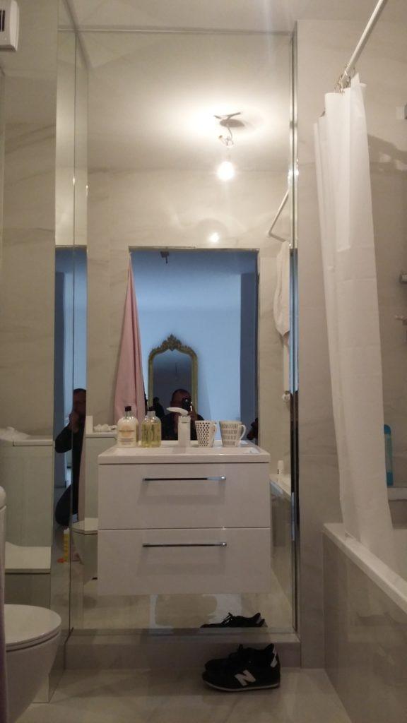 lustro łazienkowe we Wrocławskim mieszkaniu