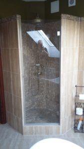 szklana drzwi prysznicowe